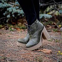 Ботинки женские кожаные на платформе,каблук 11 см, шнуровка. Пошив в любом  цвете b2826722e11