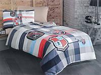 """Полуторный комплект постельного белья с детским рисунком """"Геральдика"""" 150х220 из бязи"""