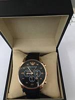 Купить Часы Armani (Армани) чёрные оптом