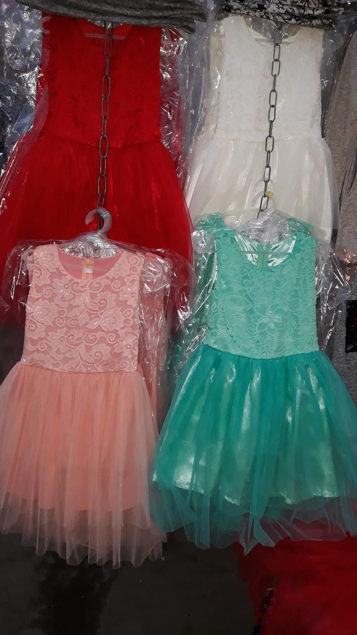 Красивое детское платье в расцветках