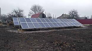установленные 2 поля солнечных панелей Perlight Solar PLM-260P-60 260