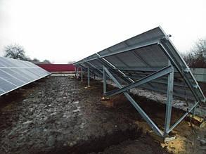 тыльная часть конструкции стола для солнечных панелей
