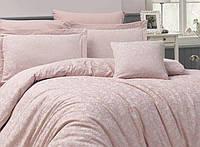 Жаккардовое постельное белье, евро размера с четырьмя наволочками NAZENIN модель: Serena pudra