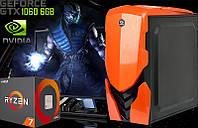 Игровой Мега Монстр ПК ZEVS PC13500 RYZEN 1700 + GTX 1060 6GB +16GB DDR4 +SSD 120GB