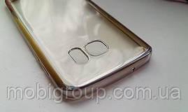 Чехол силиконовый с бампером под металик Samsung S7