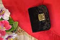 Чёрная женская мини сумочка