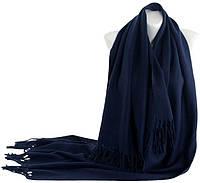 Теплый длинный женский шарф из кашемира 180х70 см., Traum 2493-87, темно-синий