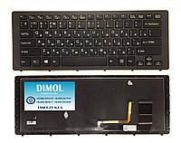 Оригинальная клавиатура для Sony Vaio Fit 15N, FIT15N, SVF15N series, black, ru, подсветка