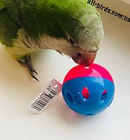 Мячик-погремушка для средних и мелких попугаев