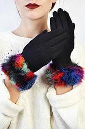 Женские перчатки замшевые сенсорные Тарт