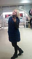 Куртка с мехом чернобурки в наличии 44 46 размеры
