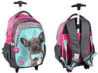 Рюкзак школьный на колесах с собакой PASO PEM-997