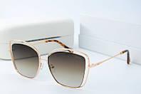 Солнцезащитные очки квадратные Chloe коричневые, фото 1