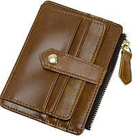 4027f7c39f16 Мужской современный картхолдер из натуральной кожи Traum 7110-49 коричневый