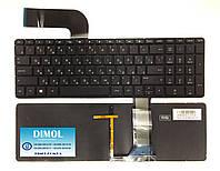 Оригинальная клавиатура для ноутбука HP Pavilion 15-P, 15Z-P, 17-F series, rus, black, подсветка