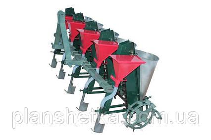 Сеялка для чеснока Ярило 4-х рядная тракторная с бункерами для удобрений , фото 2