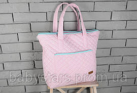 Сумка-матрас для пеленания, розово-бирюзовая