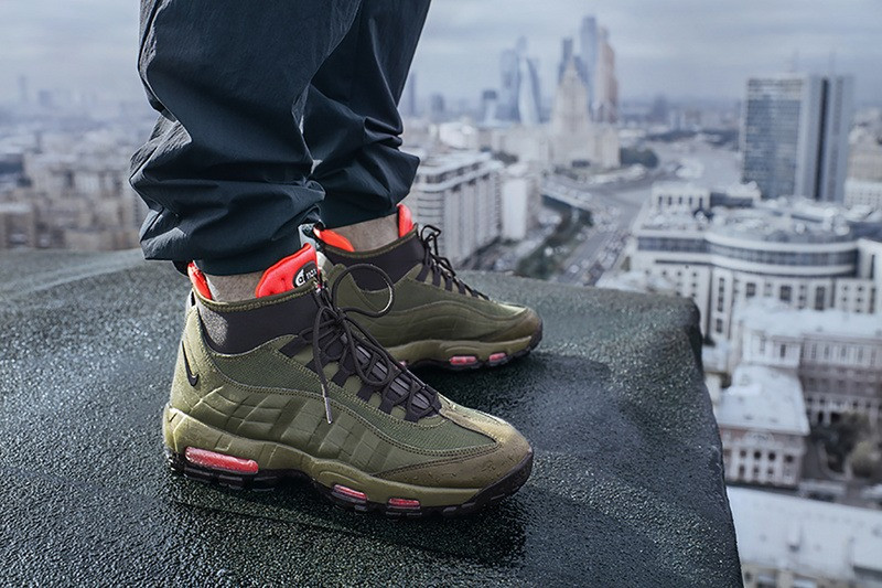 9d641352 Мужские зимние кроссовки Nike Air Max 95 Sneakerboot Olive -  Интернет-магазин обуви
