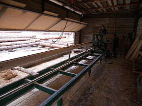 Производство оцелендрованого бревна