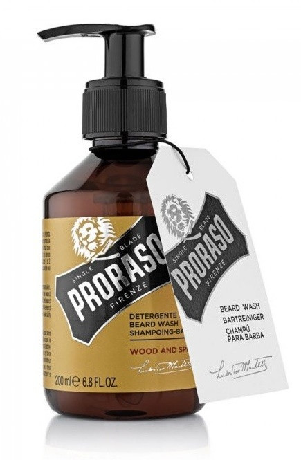 Шампунь для бороды Proraso Wood & Spice Beard Wash 200 мл.