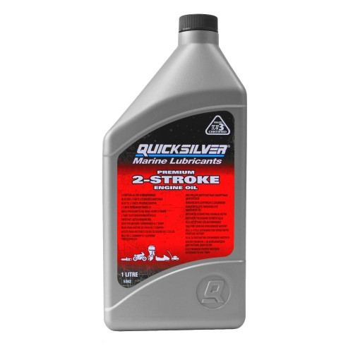 Масло моторное Quicksilver Premium 2-Stroke Engine Oil (1л)