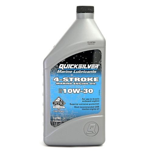 Масло моторное Quicksilver 10W-30 для 4Т двигателей минеральное (1л)