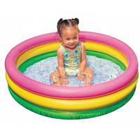 Позитивный детский надувной бассейн Intex 58924 круг 86 х 25 см. Вместительный и легкий. Доступно. Код: КГ2825