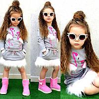 Красивый модный стильный костюм для девочки Пеликан 2-12 лет Турция