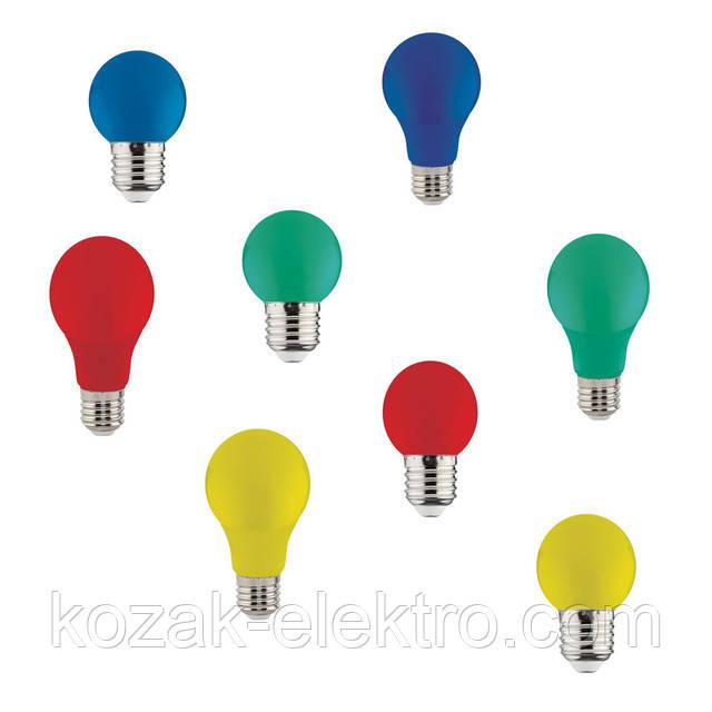 Світлодіодна лампа Rainbow 1Вт кольорова (жовта,червона,зелена,синя)
