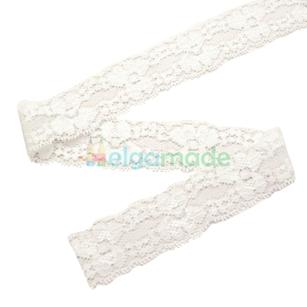 Кружева эластичные для повязок, БЕЛЫЕ, 25 мм