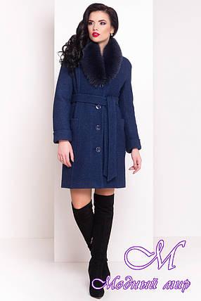"""Женское темно-синее зимнее пальто (р. XS, S, М, L) арт. Стен """"4103"""" - 20178, фото 2"""