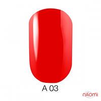 Naomi Aquarelle А 03 красный гель-лак, 6 мл