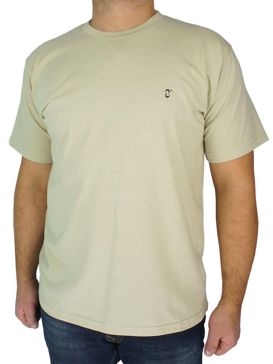 Однотонная мужская польская футболка Neti MSY-001 оливкового цвета