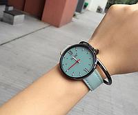 Стильные женские наручные часы с голубым ремешком код 339