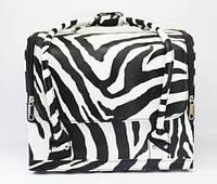 Бьюти-кейс для косметики (в полоску зебры, эксклюзивная модель)