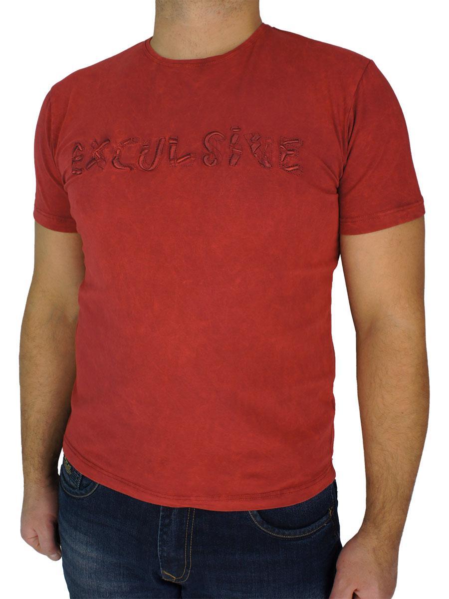 Турецька чоловіча футболка Fabianі 4324 в бордовому кольорі