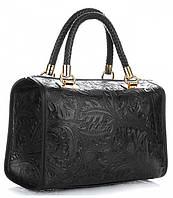 Итальянская женская сумка GENUINE LEATHER из натуральной кожи, черного цвета