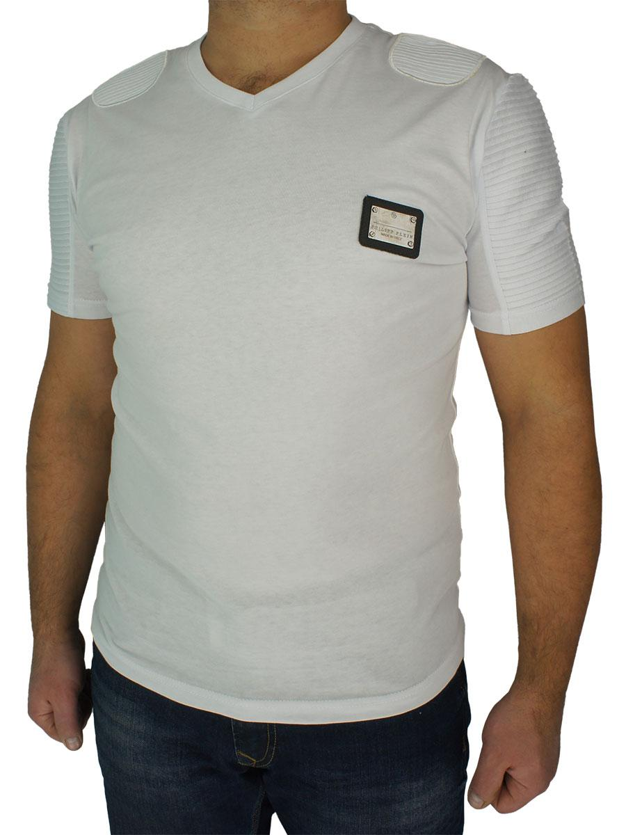 Стильна чоловіча футболка 10007-U білого кольору