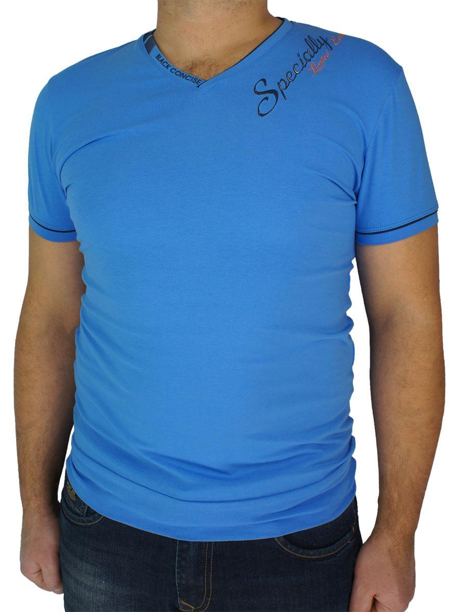 Синя чоловіча футболка Maxway 1306 H