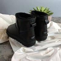 Угги женские mini классические черные кожаные | Ugg Australia | Угги  36