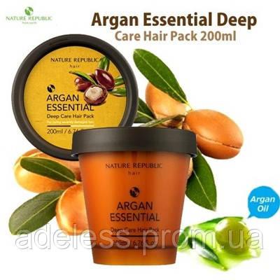 Интенсивная аргановая маска для волос NATURE REPUBLIC Argan Essencial Deep Care Hair Pack