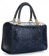 Итальянская женская сумка GENUINE LEATHER из натуральной кожи, синего цвета