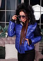 """Женская зимняя куртка """"Leylaa"""" №124-50/1 БАТАЛ"""