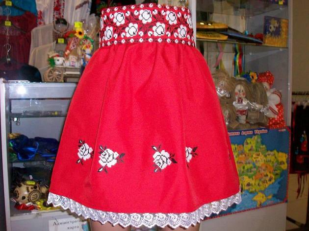 Вышитая юбка с поясом, фото 2