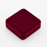 Футляр для кулона 1008, бордовый, размер 40*40 мм