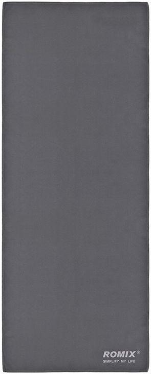 Антибактериальное полотенце с легкой сушкой 30*120 полиэфир ROMIX RH38GR, серый