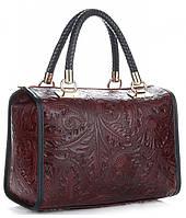 Итальянская женская сумка GENUINE LEATHER из натуральной кожи, бордового цвета