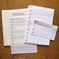 Для фотоальбома Memo Writting Cards вкладыши-полосочки для подписи фотографий