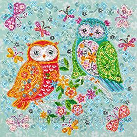 """Схема  для вышивки бисером на натуральном художественном холсте """"Совушки-подружки"""""""