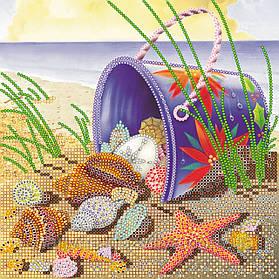 """Схема  для вышивки бисером на натуральном художественном холсте """"На морском берегу"""""""